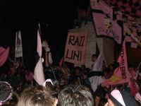 Palermo in A-29/05/2004:Bandiere e striscioni alla festa di Piazza Politeama PALERMO Paolo Naselli