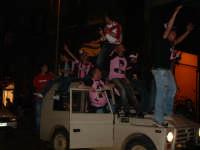 Palermo in A-29/05/2004:Vecchio fuoristrada carico di tifosi  PALERMO Paolo Naselli