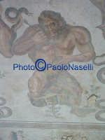 Villa Romana del Casale:i mosaici dell'Aula Triloba- particolare.  - Piazza armerina (2116 clic)