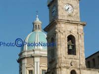 La Cattedrale: veduta della torre sinistra e della cupola-2.  - Caltanissetta (1800 clic)