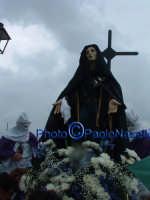 Venerdì Santo 2009: la statua dell'Addolorata dopo la crocifissione di Cristo.  - Villarosa (3934 clic)
