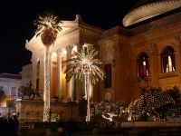 Natale 20023:luci al Teatro Massimo (1). PALERMO Paolo Naselli
