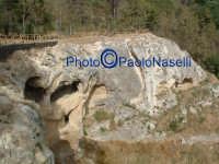 Area archeologica di Contrada Canalotto,il costone roccioso visto da ovest.  - Calascibetta (1881 clic)