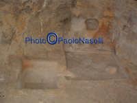 Area archeologica di Contrada Canalotto, grotta posta a ovest del complesso, presumibilmente usata come frantoio; vista interna con le edicolette scavate nei muri e le vasche scavate nel pavimento.2  - Calascibetta (2880 clic)