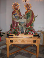 I Santi Cosma e Damiano  in chiesa settembre 2007  - Roccalumera (6674 clic)
