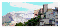 Castello ed montagne  - Carini (6435 clic)