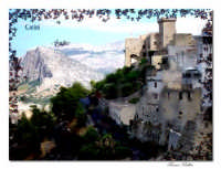 Veduta del castello he montagne   - Carini (6519 clic)