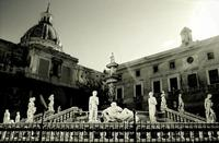 piazza pretoria  fontana della vergogna e palazzo delle aquile a Palermo PALERMO Gabriele Saito