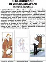 U Bammineddu di Chiusa Sclafani-Tratto dal libro: Manifestazioni a Chiusa Sclafani di Totò Mirabile.  - Chiusa sclafani (4063 clic)