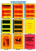 Foto d'insieme da 1 a 9 delle copertine dei libri scritti da Totò Mirabile. 1 Primo quarto della vita; 2 Secondo quarto della vita; 3 Terzo quarto della vita; 4 I tre quarti della vita; 5 Ultimo quarto della vita;  6 A Parrina; 7 Aforismi e lampi d'intelletto; 8 Arti e mestieri; 9 Basiliche e Chiese in Sicilia.  - Chiusa sclafani (3918 clic)