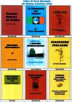 Foto d'insieme da 100 a 108 delle copertine dei libri scritti da Totò Mirabile. 100:Uomini illustri di Sicilia;101 Le bandiere del mondo;102 Ospedalità antica e moderna in Sicilia;103 Indovina indovinello;104 I borghi mussoliniani;105Maschere italiane;106 Gli ordini religiosi;107 Cento storie di Giufà;108 Vicende mafiose marsalesi.  - Chiusa sclafani (4810 clic)
