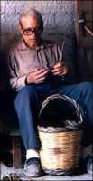 Grande maestro costruttore di ceste  U zu Piddu Mirabile   - Chiusa sclafani (3322 clic)
