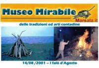 Museo Mirabile delle tradizioni e arti contadine di Marsala: i falò d'agosto.   - Marsala (4169 clic)
