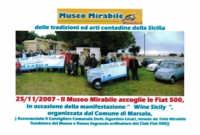 Museo Mirabile delle tradizioni e arti contadine di Marsala: Il Museo Mirabile accoglie le Fiat 500.  - Marsala (4547 clic)