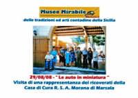 Museo Mirabile delle tradizioni e arti contadine di Marsala: le auto in miniatura-visita degli ospiti della clinica Morana.  - Marsala (4989 clic)