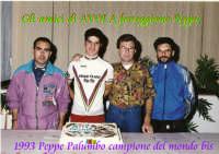 Avola 1993.Peppe Palumbo CAMPIONE DEL MONDO BIS festeggiato dagli amici avolesi  - Avola (2578 clic)