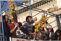 Avola piazza Umberto 1°.Premiazione di Bontempi dopo la vittoria su Soerensen e Baffi.Feb.1988  - Avola (2720 clic)