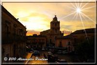 PIAZZA SAN GIOVANNI TRAMONTO DOPO LA PIOGGIA   - Monterosso almo (5333 clic)