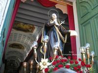 L' ADDOLORATA all'uscita della Chiesa Madre  - Mussomeli (8163 clic)