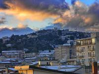 Mussomeli - Spruzzi di neve al tramonto (5210 clic)