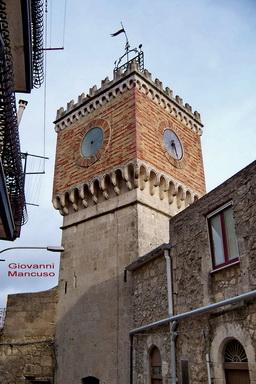 Centro Storico - Torre dell'orologio - MUSSOMELI - inserita il