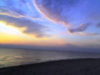tramonto sullo spiaggione  - Punta braccetto (4637 clic)