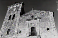 Chiesa di S. Antonio Abate: antica facciata con torre campanaria  - Melilli (6966 clic)