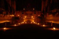 Altare di san Giuseppe realizzato dai Borgesi di san Giuseppe 19.03.2008 La chiesa è illuminata da ceri  - Calatafimi segesta (3890 clic)