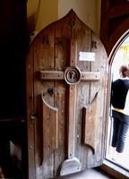 Oratorio del SS. Rosario Il portone di ingresso all'oratorio del SS. Rosario- agosto 2014   - Valledolmo (1897 clic)