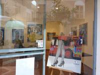 Facebook in vetrina L'opera di Aurelio Caruso esposta in vetrina al Margaret Café in occasione della