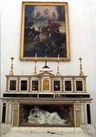 Altare maggiore di San Giorgio dei Genovesi Alla base dell'altare è visibile la scultura di G.B. Rag