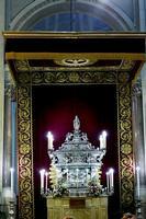 Cattedrale di Palermo Urna argentea contenente le reliquie di  Santa  Rosalia-  L'urna, realizzata d