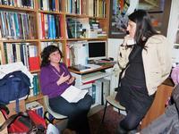Vinny Scorsone e Giovanna Calabretta Vinny e Giovanna intente a discutere su questioni artistiche presso lo Studio 71 di Palermo   - Palermo (3598 clic)