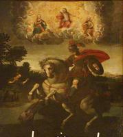 San Giorgio dei Genovesi  S.Giorgio e la principessa-1636 autore ignoto- Il quadro è posto  sopra l'