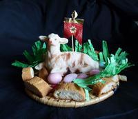 Pecorella pasquale tipico dolce pasquale siciliano di martorana.- Ph  Maria Pia Lo Verso -  - Palermo (2680 clic)