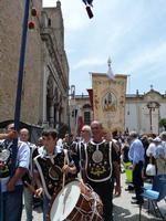XXI Cammino delle Confraternite Un momento della sfilata del XXI Cammino delle Confraternite Italiane a Monreale  - giugno 2012 -  - Monreale (2902 clic)