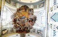 Cattedrale di Palermo Volta del presbiterio con l'affresco   Assunzione delle Vergine  PALERMO Mar