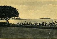 Isola delle Femmine al tramonto La foto è degli anni cinquanta porta il timbro postale 7.6.958 in pa