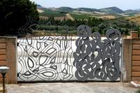 Cancello Opera di Pietro Consagra  - Gibellina (612 clic)