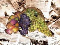 natura morta Composizione con uva e fichidindia - progetto per una etichetta di vino  - Palermo (3693 clic)