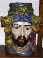 Grasta di ceramica di Caltagirone Grasta maschile  - Taormina (7813 clic)