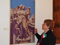 Maria Pia Lo Verso e una sua foto Museo degli Angeli - Sant'Angeo di Brolo  - Sant'angelo di brolo (5320 clic)