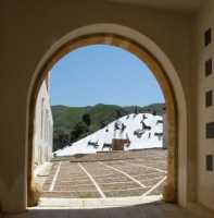 Case Di Stefano - Mimmo Paladino Case Di Stefano - scorcio della montagna di sale opere di Mimmo Paladino  - Gibellina (10777 clic)