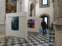 opere di Massimo Piazza e Calogero Barba Immagini della mostra Arte, Fede e Speranza esposta a San G