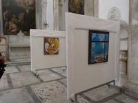opere di Nino Liberto e Tanina Cuccia Immagini della mostra Arte, Fede e Speranza esposta a San Gior