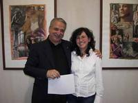 Franco Nocera e Vinny Scorsone l'artista Franco Nocera e il critico d'arte Vinny Scorsone nel corso di una mostra allo Studio 71 di Palermo  - Palermo (7193 clic)