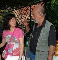 Vinny Scorsone e Togo (Enzo Migneco) il critico d'arte Vinny Scorsone ed il pittore Togo nel corso della serata inaugurale della sua mostra alla galleria Studio 71 di Palermo  - Palermo (3754 clic)