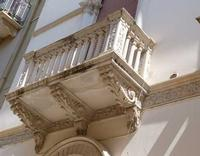 Palazzo Burgio Spanò Costruito nel XX secolo  con molti decori in stile   SICILIANO- LIBERTY -   Sta fra la Via  XI Maggio  e  la  Via Eliodoro Lombardi -      Agosto 2013  - Marsala (1499 clic)