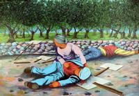 Morti ad Avola La foto è di un'opera dell'artista palermitano Giuseppe Uzzaco realizzata nel 1985 in