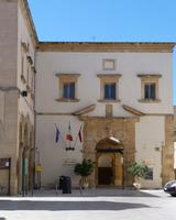 Ex Convento del Carmine  La Sede dell' Ente Mostra di Pittura Marsala ex convento del Carmine  - Marsala (1977 clic)